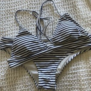 Other - NWOT striped bikini set